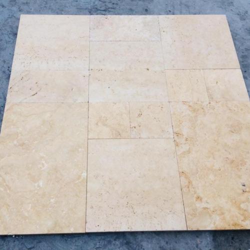 opus romain calcaire beige doré